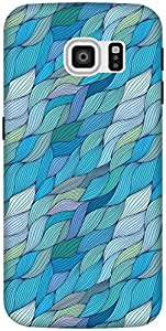 The Racoon Lean printed designer hard back mobile phone case cover for Samsung Galaxy S6 Edge. (Turquoise)