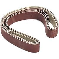 7pcs 1x30 pulgadas 80-1000 Grit lija bandas Set de aluminio óxido abrasivo lijado cinturones
