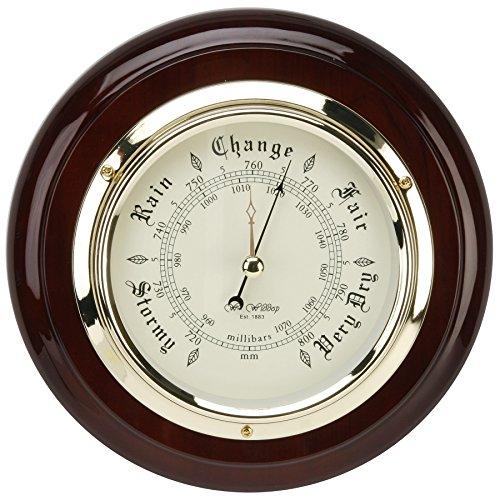 widdop-bingham-w9558-ships-mahogany-wood-wall-barometer-heavy-brass-bezel