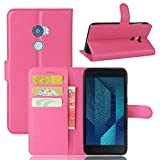 Kihying Hülle für HTC ONE X10 Hülle Schutzhülle PU Leder Flip Wallet Fashion Geschäft HandyHülle (Rose rot - JFC05)