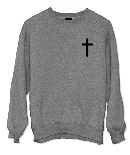Cross Religion Christian Felpa Grigio X-Large