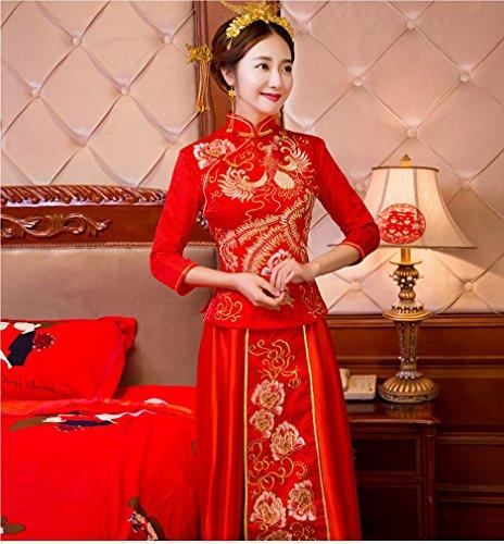 L Y Brauthochzeit Chinesisches Hochzeitskleid-Toast, der Kostümhochzeitskleid-Hochzeitskleidung...