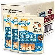 Crunchy Chicken Dog Bones - Dog Treats - Good Boy Crunchy Chicken & Calcium Bones 100ge-  Pack of 8 - Low Fat Dog Treats