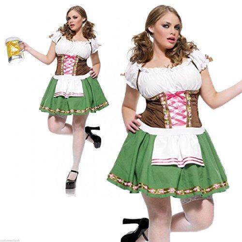 Gretchen Dirndl Kostüm Damen Gr.46/48
