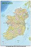 Poster/Poster, Motiv Irland Politische Straßenkarte,
