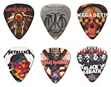 #4: 6 Piece - 0.71mm Guitar Picks of Lamb of God, Dream Theatre, Megadeth, Metallica, Iron Maiden, Black Sabbath
