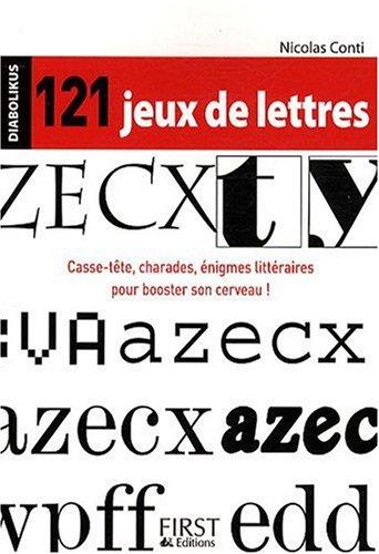 121 JEUX DE LETTRES par NICOLAS CONTI