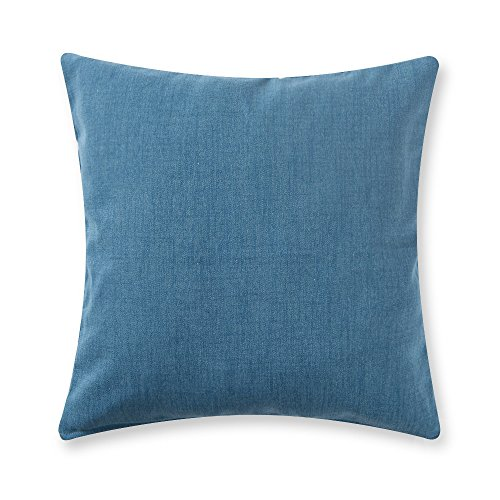 baibu Solid Color Throw Pillow Cover Decor Cushion Cover for Sofa/Bed/Chair Pillowcases Blue 50×50