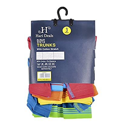 Hari Deals Los niños los niños Ropa Interior Boxers Troncos Pantalones Cortos Pantalones (6Unidades, 2–13años