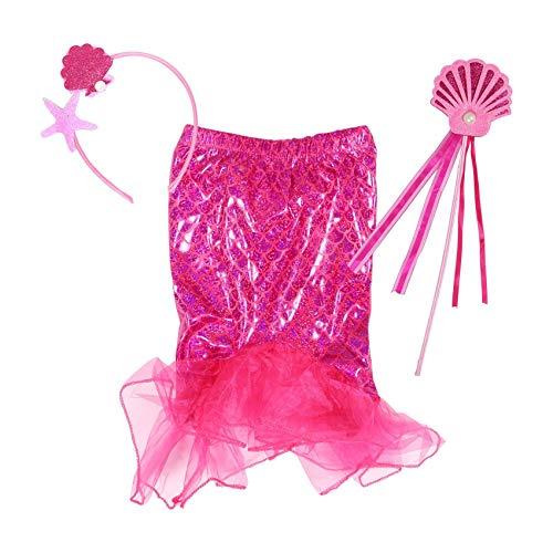 Hunterprice Meerjungfrau Mädchen Fancy Dress Up Kostüm, Tutu & Zauberstab Set (2-3 Jahre, ()