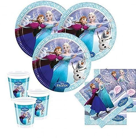 Disney Frozen la reine des Neiges Kit pour fête d'anniversaire (52 pièces - 16 enfants)