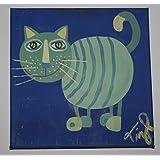 Bild auf Leinwand, Katze, Original, Wanddekoration