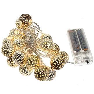 LED-Lichterkette-Kugellichterkette-Kugelkette-Weihnachten-Beleuchtung-Deko-Batteriebetrieb-in-warmwei