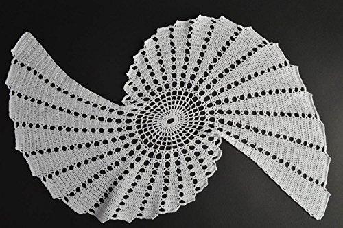 Handmade gehäkelte Tisch Serviette Wohn Accessoire originell Küchen Deko