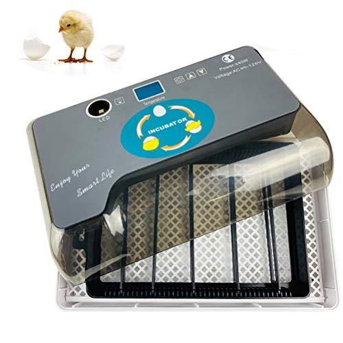 Comtervi Brutmaschine Vollautomatisch, brutkasten für hühner vollautomatisch, 9-35 Eier Motorbrüter Hühner, Mit Eingebautem LED,Temperatur und Feuchtigkeitsregulierung