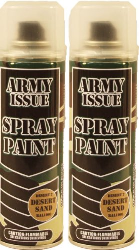2-x-military-vehicle-equipment-army-camouflage-spray-paint-250ml-desert-sand