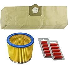 Spares2go Kit de bolsas y filtro para aspiradora Parkside/Lidl PNTS 1300 1400 1500 (