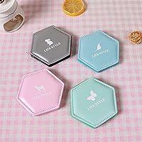 Preisvergleich für Baby-lustiges Spielzeug Deluxe Double Sided PU Leder Tiermuster Hexagon Style Compact Taschenformat Spiegel Random Farbe