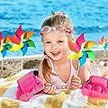 Modou (4 Stück Bunte Windmühlen ALS Geschenk für Kinder Zum Spielen oder ALS Zarte Dekoration für Kindergärten, Gärten, Kinderzimmer, Partys oder Schaufenster von Modou auf Du und dein Garten