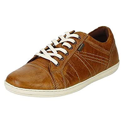 Red Tape Men's Tan Leather Sneakers-7 UK/India (41 EU) (RTE0683)