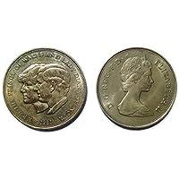 Il Principe di Galles e Lady Diana Spencer commemorativa corona moneta dal 1981