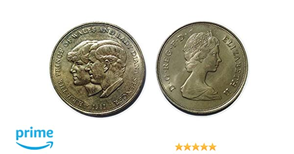 89b7a3f9a9 Il Principe di Galles e Lady Diana Spencer commemorativa corona moneta dal  1981: Amazon.it: Cancelleria e prodotti per ufficio