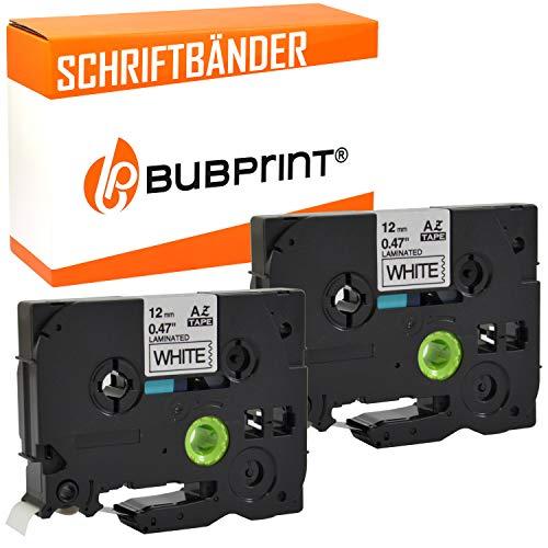 Bubprint 2 nastro a cassetta compatibile per Brother TZE231 TZ-231 e per P-Touch 900 1000 1005 1010 1080 1200 P 1280 3600 H-500 D 400 D 800 H75 H 110