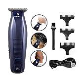 MAYBUY Tondeuse à Cheveux Rasé Electrique pour Hommes Sans Fil Rasoir Cheveux Barbe Très Court Rechargeable USB + 03 hauteurs de coupe...