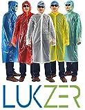 #4: Lukzer 5 pcs Unisex Plastic Disposable Raincoat Set for Adults during Camping,Hiking,Travel etc,Random Color.