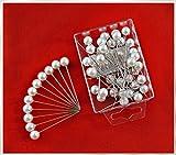 Perlen-Nadeln mit Perle WEISS 10mm 50 Stück ACHTUNG! KEINE STECKNADELN