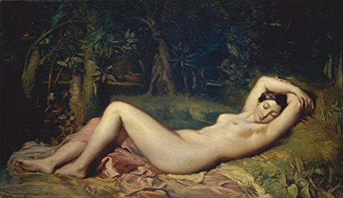 Artland Qualitätsbilder I Bild auf Leinwand Leinwandbilder Wandbilder 100 x 50 cm Menschen Frau Malerei Natur D3IO Schlafende Nymphe