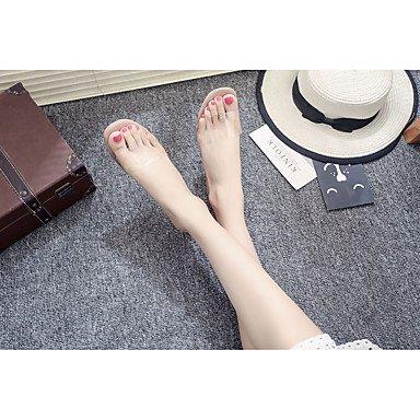Les femme's Chaussons &AMP; Tong PU Été robe beige talon aiguille rouge rose 1en 1 3/4'' US5.5 / EU36 / UK3.5 / CN35