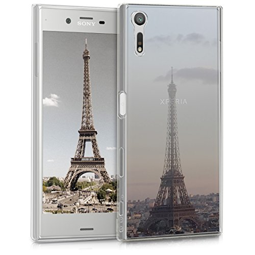 kwmobile Sony Xperia XZ/XZs Hülle - Handyhülle für Sony Xperia XZ/XZs - Handy Case in Anthrazit Rosa Transparent