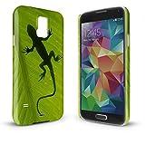 YOUNiiK Premium Case für Samsung Galaxy S5 G900F / S5 Neo G903F - Gecko - Handyhülle Cover in einzigartiger Qualität, randlos bedruckt und extrem kratzfest