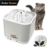 Flightbird 1.5m Radar Sensing Haustier Wasserspender, Automatischer Katzen Hunde Trinkbrunnen, Super Silent Haustier Wasserbrunnen mit LED-Licht & 3 Ersatzfilter für Katzen und Hunde (2L)