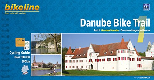 Danube Bike Trail 1: From Donaueschingen to Passau. Scale: 1.50.000. Esterbauer. por VV.AA.