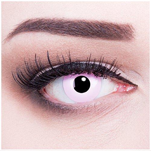 Funnylens 1 Paar farbige pinke rosa pink Crazy Fun Jahres Kontaktlinsen ohne Stärke crazy contact lenses 1 Paar perfekt zu Fasching und Karneval. Mit gratis Linsenbehälter, ohne Sehstärke.