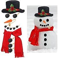 Kit de 14 Piezas de Vestir y Decorar Muñeco de Nieve de Talla Grande Juego de