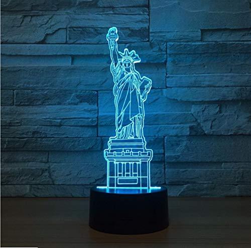 New York City Freiheitsstatue 3D Led Nachtlicht Touch Schreibtischlampe Fernbedienung Home Schlafzimmer Dekor Weihnachtsgeschenk