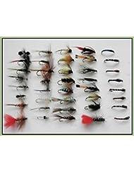 Troutflies UK Mixed Packs Lot #216 Kit de 40mouches pour la pêche à la truite comprenant des mouches sèches/des nymphes