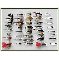 40mixto Pesca de la trucha de moscas, se seca Nymphs, BUZZERS, WETS etc. (lotes x216)