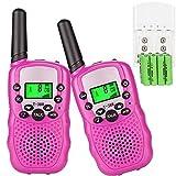 Sigdio Walkie Talkie f�r Kinder PMR446 Funkger�te mit Akkus und Ladeger�t Handfunkger�te Walki Talki Taschenlampe VOX 8 Kan�le 0,5W (Pink) Bild