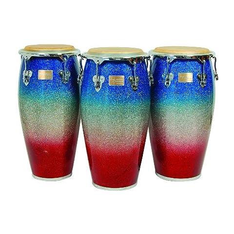 Tycoon Percussion MTCP-110CPF2/S 11 inch Master Platinum Tri-Fade Series Quinto Conga