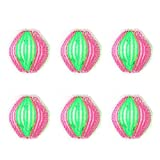 6X Milopon Wäsche Ball Mini Waschbälle Stoff Reinigung Haarentfernung Bälle für gegen Flusen Fusseln 3.5cm
