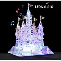 MC CHENMEI Crystal Castle 3D Puzzle Music Flash Model DIY Castle Early Learning Toy Puzzles Educational Toy gift for children