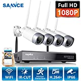 SANNCE 8CH Home Wireless Security Camera with 4 2.0MP Indoor&Outdoor Security IP Camera