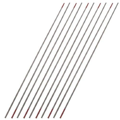 Sourcingmap a12021400ux0096-10 piezas de 1,5 mm x 150 mm toriado electrodo de tungsteno para la soldadura