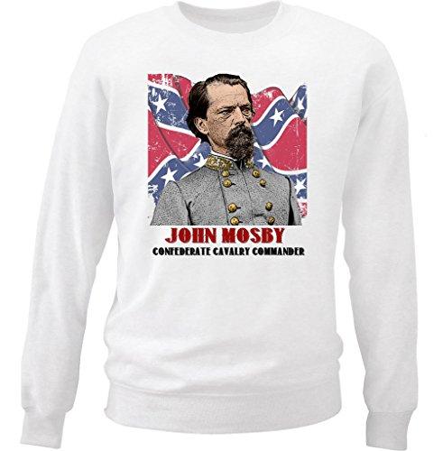 Teesquare1st Men's John Mosby White Sweatshirt