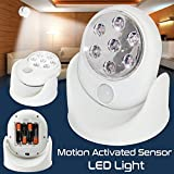 Bositools Superbright 7 LED Motion Activated Cordless Sensor LED Light Indoor Outdoor Garden Patio Wall Shed