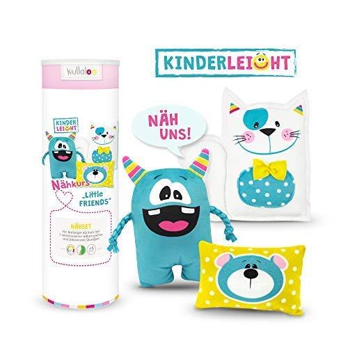 kullaloo KINDERLEICHT - Nähkurs für Anfänger Little Friends inkl. Material und Übungen in schicker ()